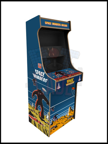 Space Invaders Artwork - 2 Player Full Size Cabinet