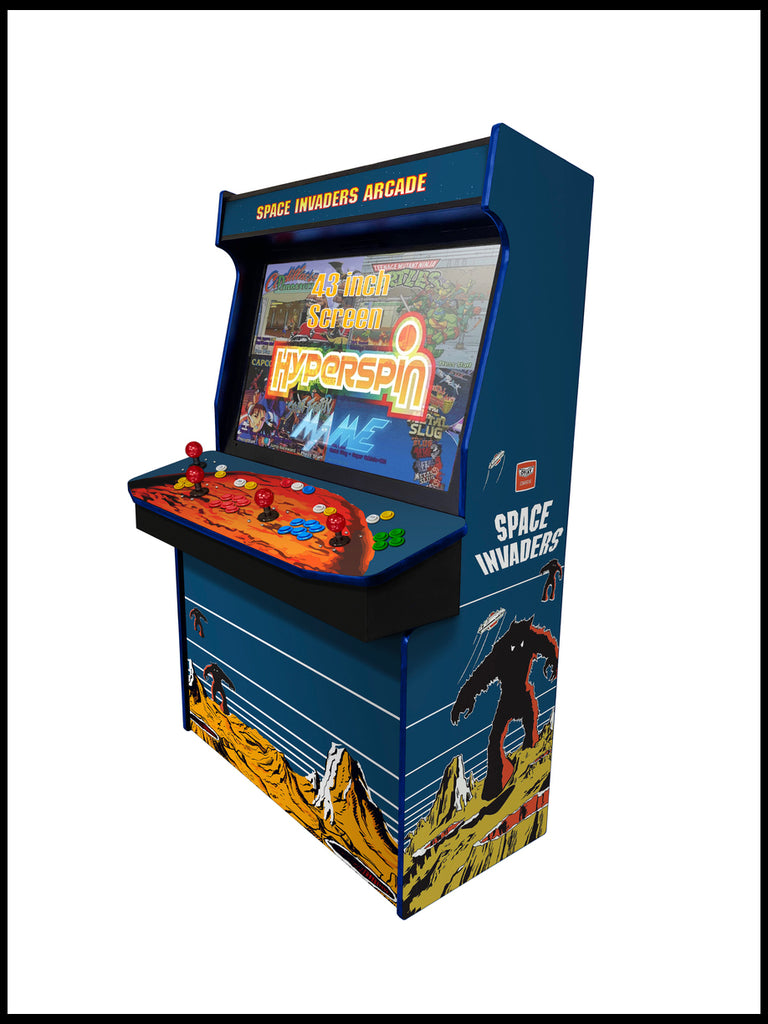 "Space Invaders - 4 Player  'Typhon' 43"" Upright Arcade Machine"
