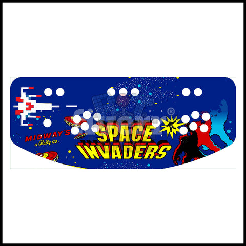 Space Invaders Artwork - 2 Player Control Panel