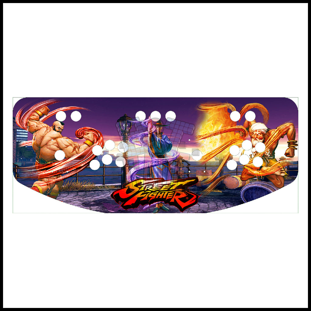 Street Fighter Artwork - 2 Player Control Panel