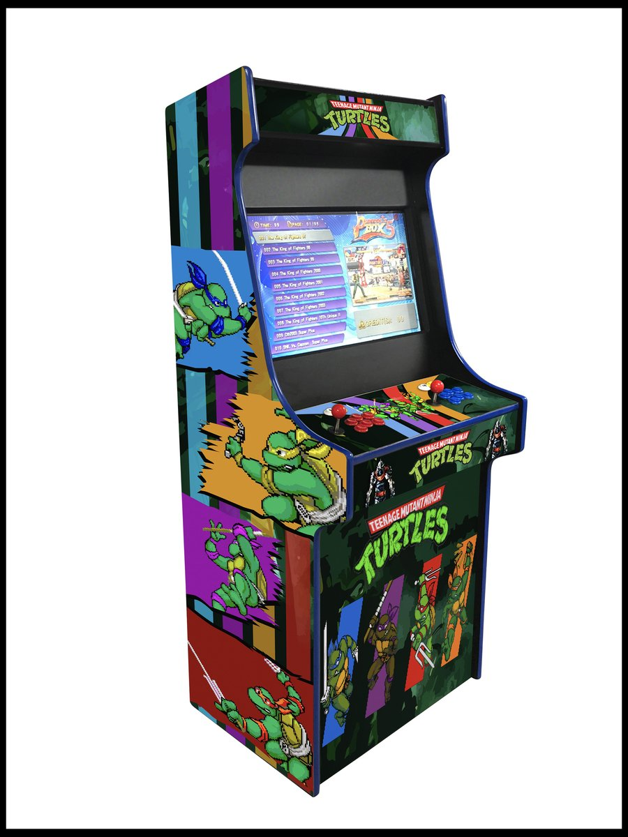 TMNT - 27 Inch Upright Arcade Cabinet - 1300 in 1
