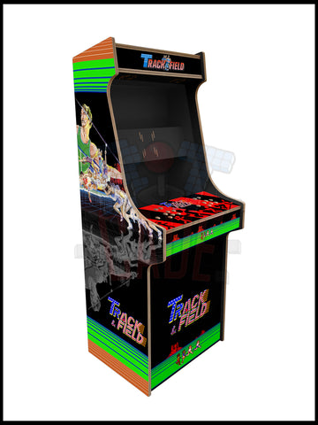 Track n Field Artwork - 2 Player Full Size Cabinet