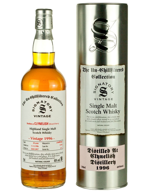 Clynelish 1996 20 Year Signatory 86 Proof