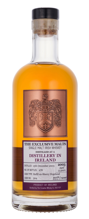 Distillery in Ireland 2003 13 Year Exclusive Malts