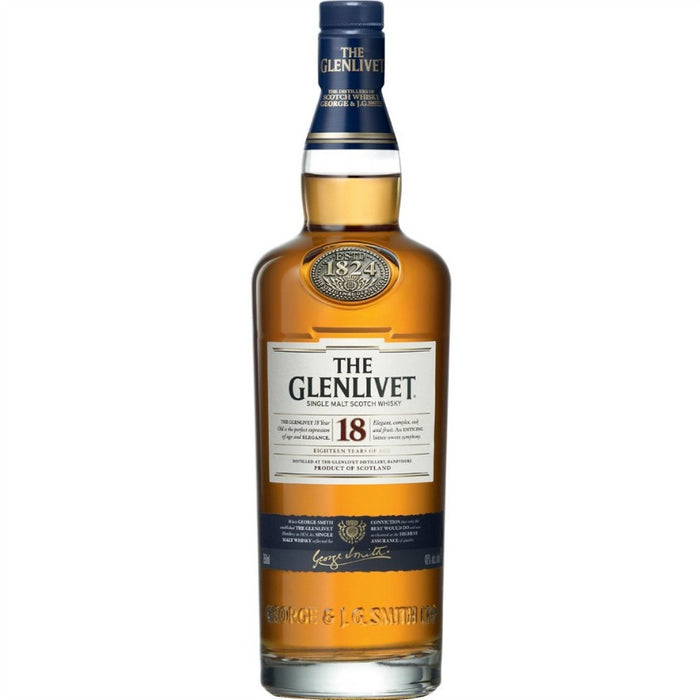 Glenlivet 18 Year Single Malt Scotch
