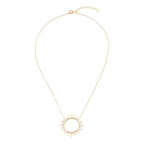 Be-dazzled Circle Necklace