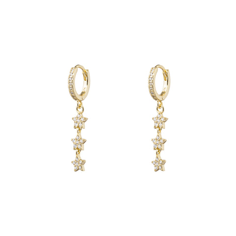 Tripple Star Drop Earring