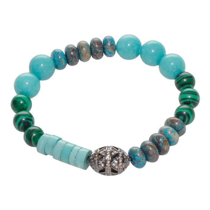 Turquoise and Malachite Bracelet