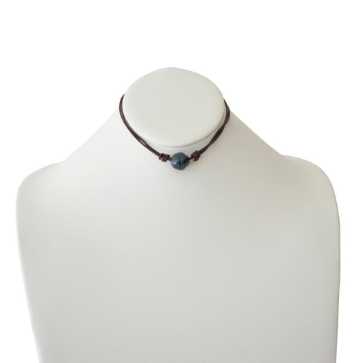 Pearl and Leather Choker
