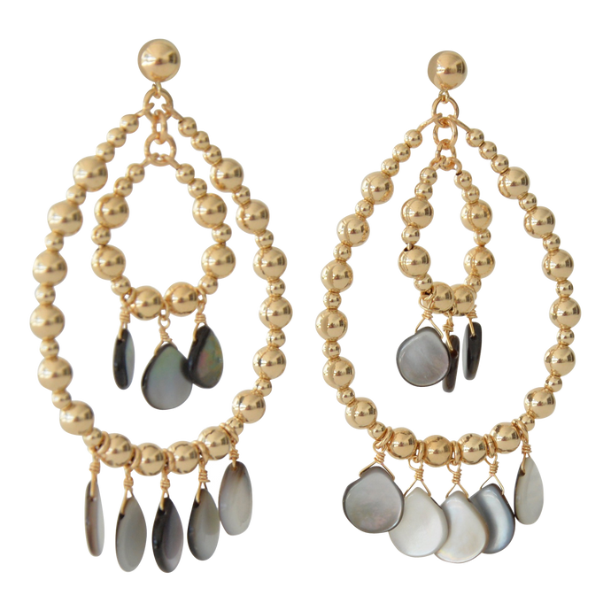 Mother of Pearl Chandelier Earrings