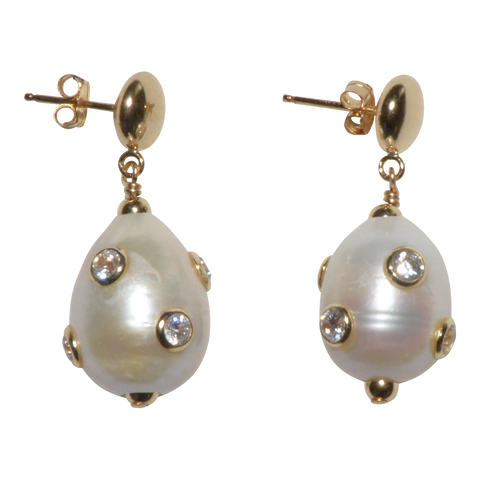 Encrusted Pearl Earrings