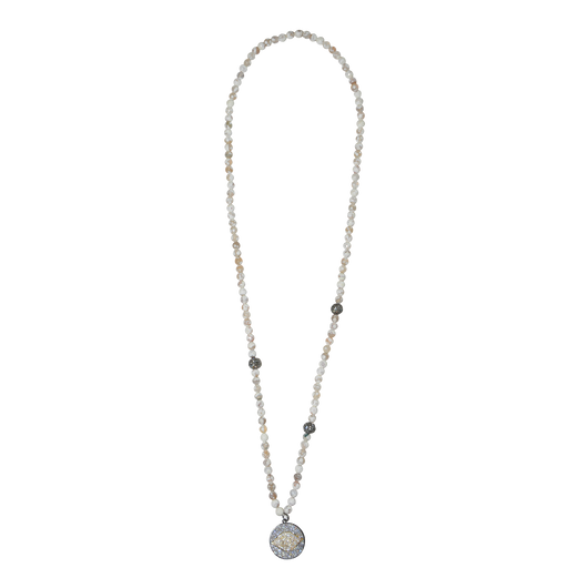 White Onyx Eye Necklace