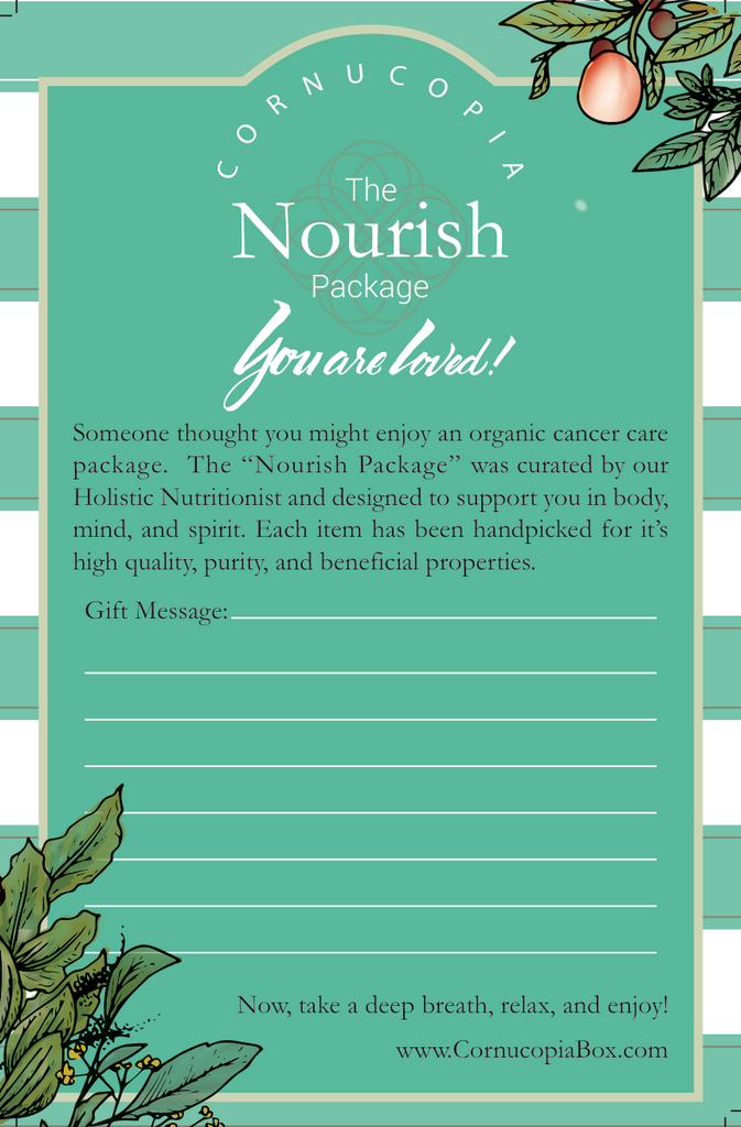 The Nourish Package - Cornucopia Cancer Care Packages