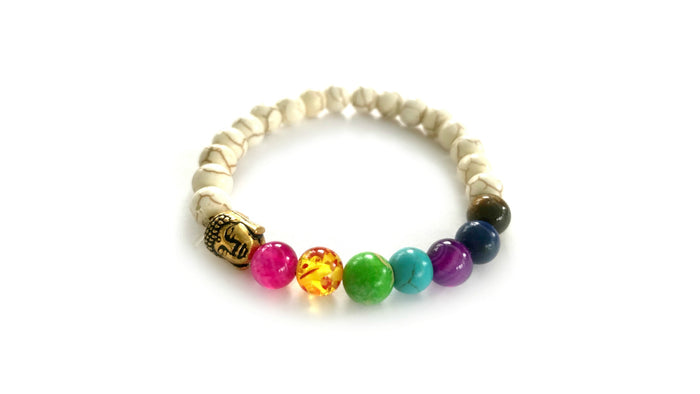 Rainbow Chakra Bracelet - Cornucopia Cancer Care Packages