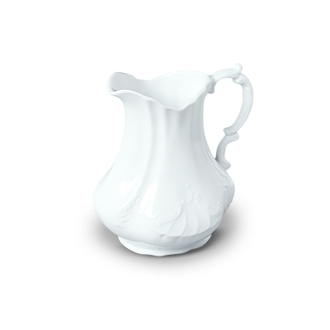 Bliss Home White Porcelain Scrolled Pitcher, 7
