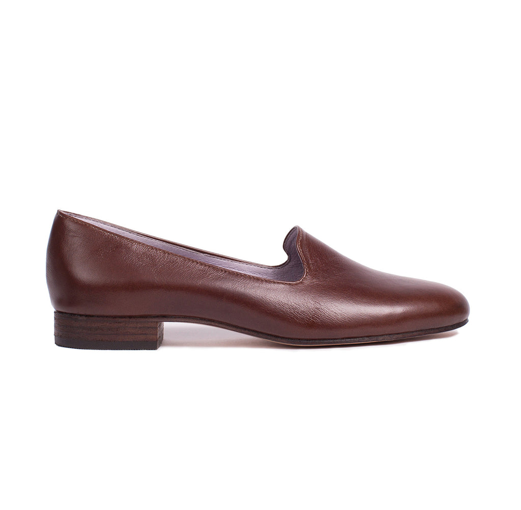 Custome Luxury Hancrafted Classic Brown Leather Loafer Made in Los Angeles Made in USA