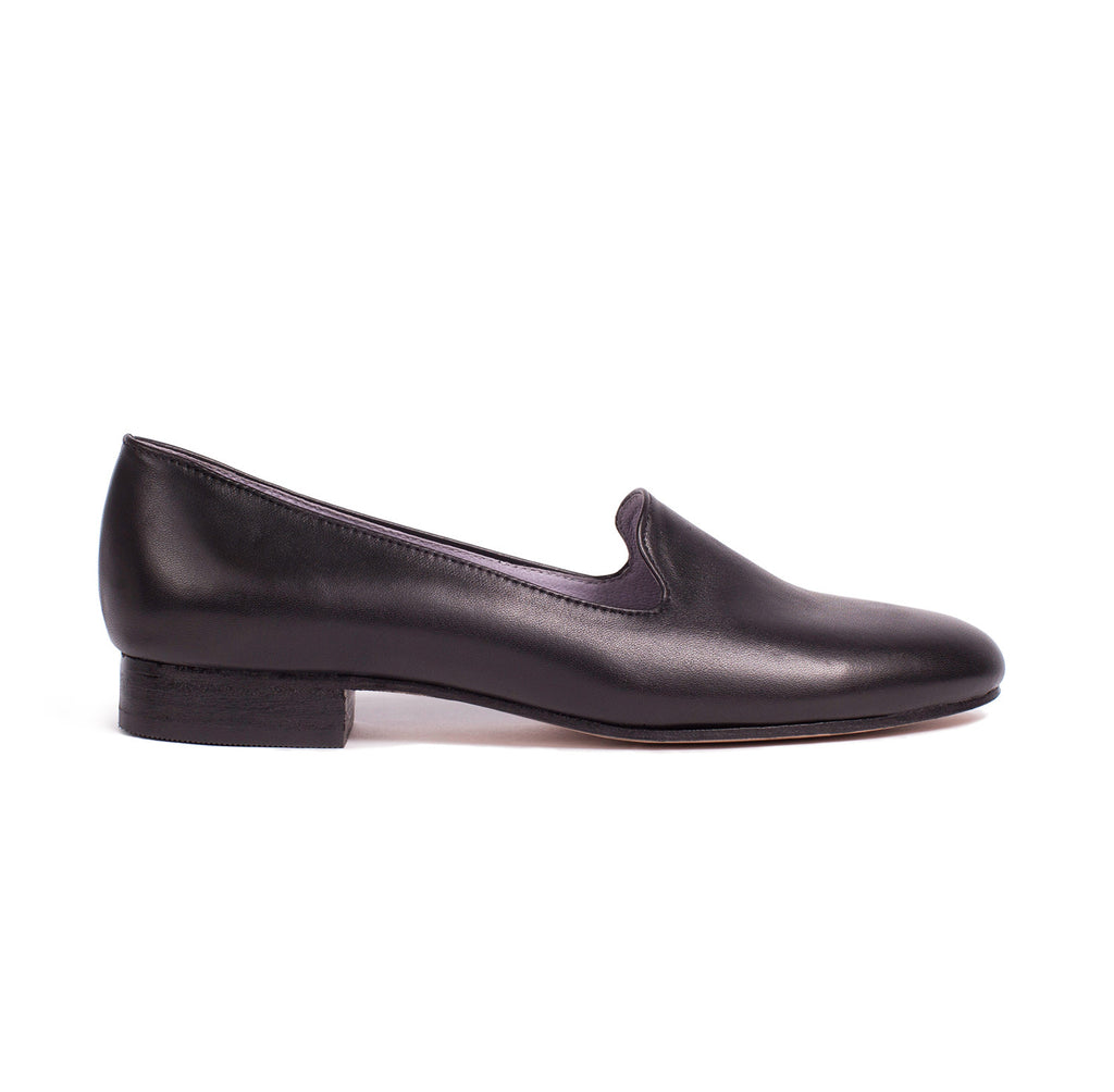 Custome Luxury Hancrafted Classic Black Leather Loafer Made in Los Angeles Made in USA
