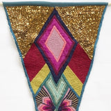 Hand Embroidered Pennant