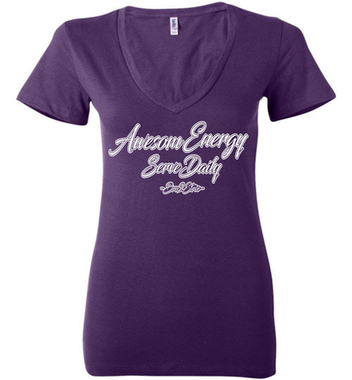 AWESOME ENERGY DEEP VNECK QUEENS TEE