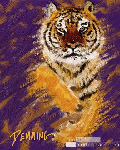 "Limited Edition ""Tiger Approach"" LSU Giclee on Museum Quality Heavy Weight Paper"