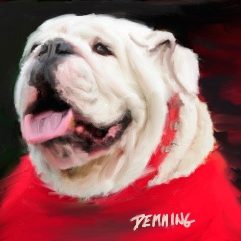 "Limited Edition ""Woof 2!"" Bulldog Giclee on Museum Quality Heavy Weight Paper"