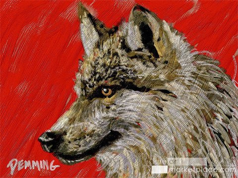 "Limited Edition ""Leader of the Pack!"" Wolfpack Giclee on Museum Quality Heavy Weight Paper"