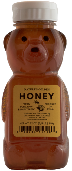 12 oz. of Nature's Golden Honey in a Plastic Bear Flip-Top Container