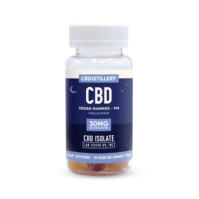 CBDistillery CBD edible gummy melatonin sleep