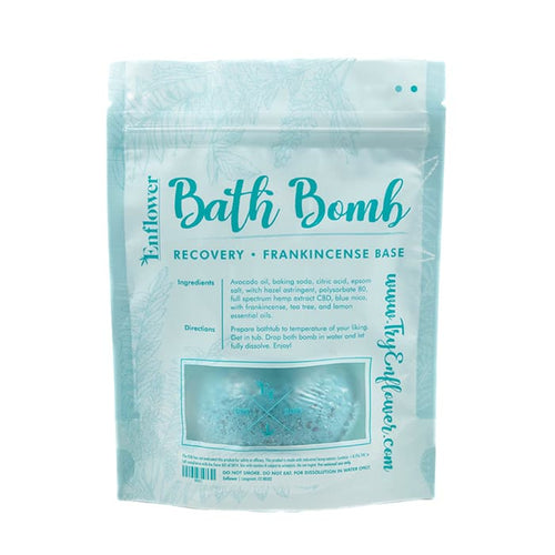 CBD bath bomb recovery relax pamper