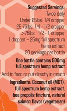"Colorado Hemp Honey - Hip ""N"" Joint pet tincture"