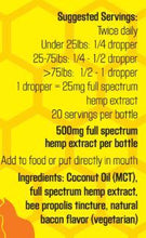 Colorado Hemp Honey - Crazy Bee Gone pet tincture