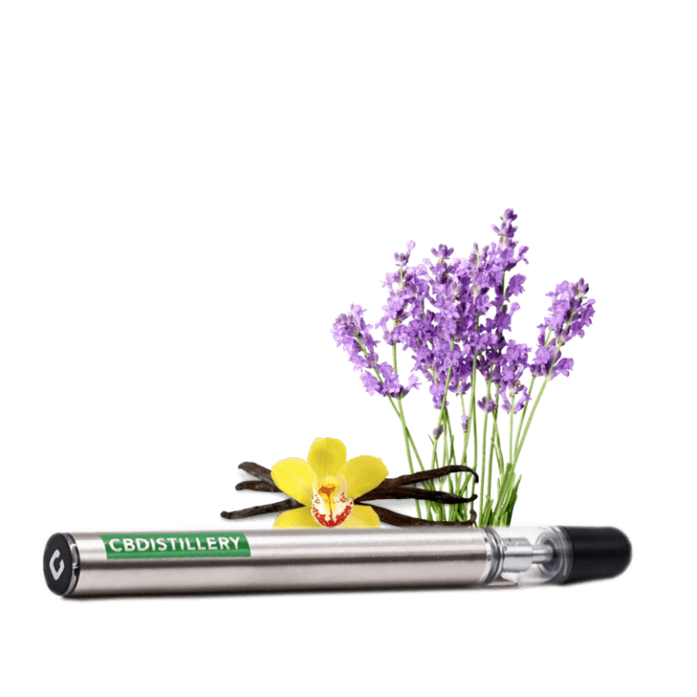 CBDistillery CBD vape disposable lavender vanilla