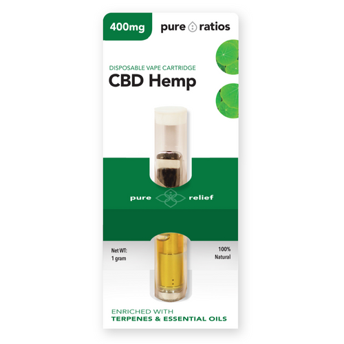 Pure Ratios 400mg CBD vape cartridge