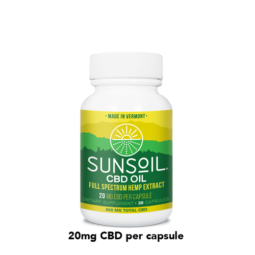 SunSoil 20mg capsules - 30 count