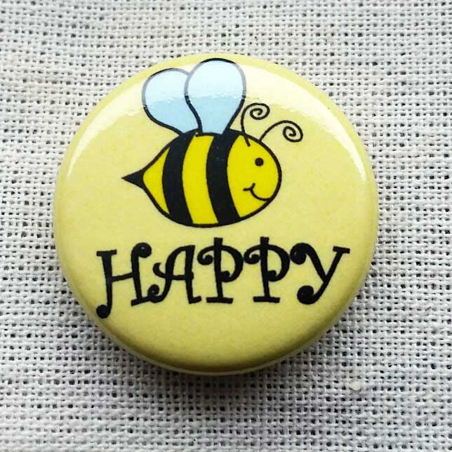 bee happy pin