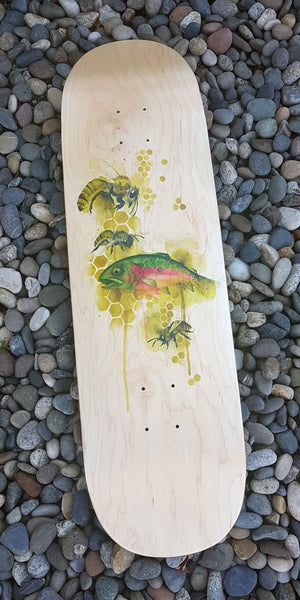 Cutts and Bows X EastVan Bees Skateboard Deck