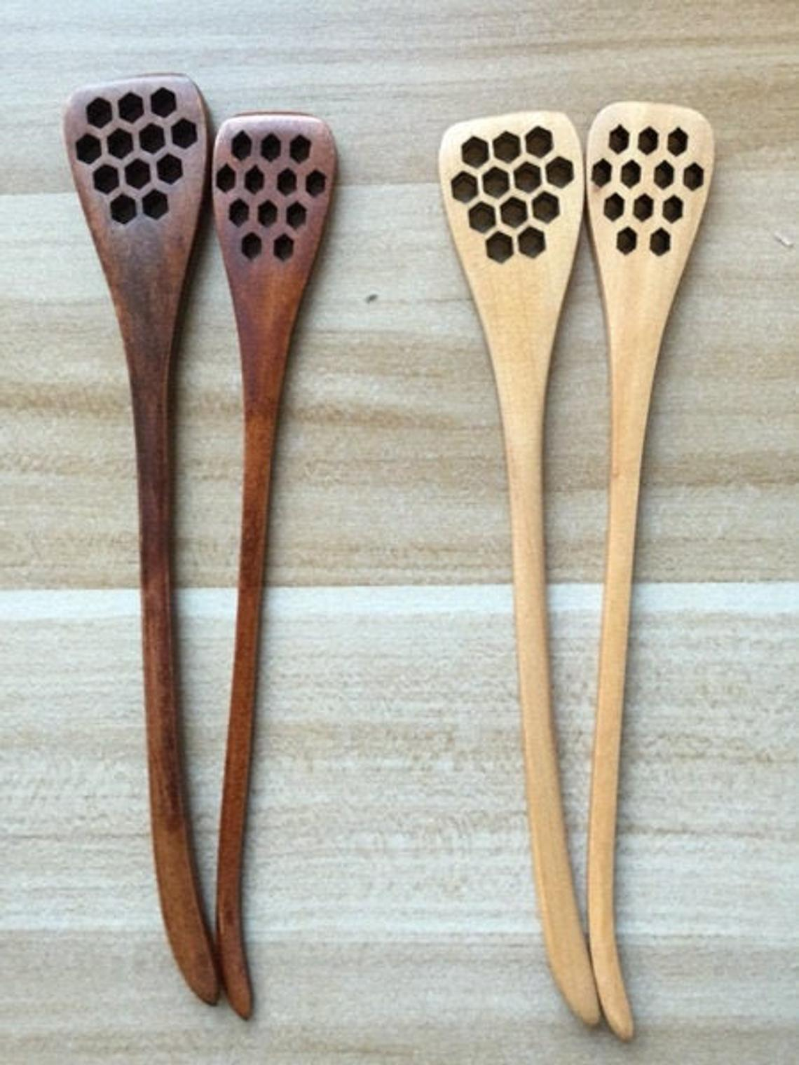 Honey Dipper with Hex Holes