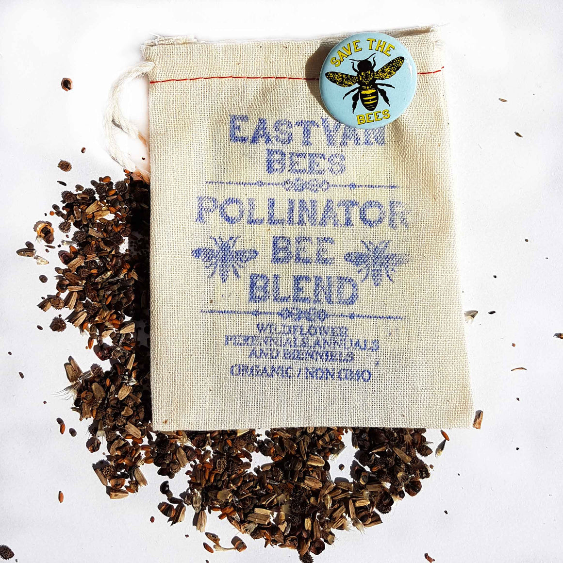 Bee Blend Wildflower seed pack w/pin -FREE SHIPPING