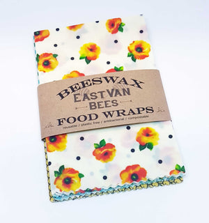 Beeswax Food Wraps -3 Large wraps pack - Zero waste- Food Safe - Reusable- Free shipping