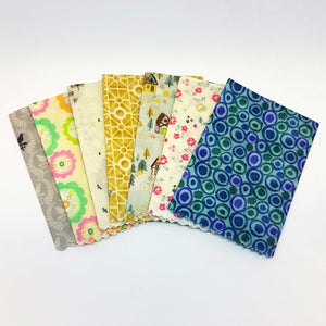 Beeswax Food Wraps -5 pack - Starter kit - Zero waste- Food Safe - Reusable