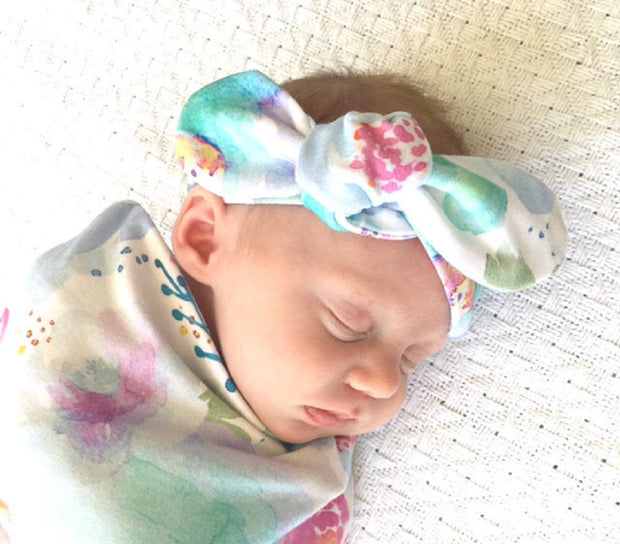Snuggle Hunny Kids Sweet Petal Topknot Headband