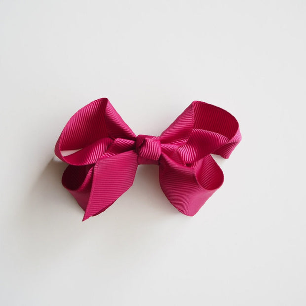 Snuggle Hunny Kids Burgundy Clip Bow - Medium