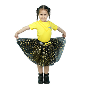 The Wiggles Emma Gold Glitter Printed Mesh Tulle Skirt