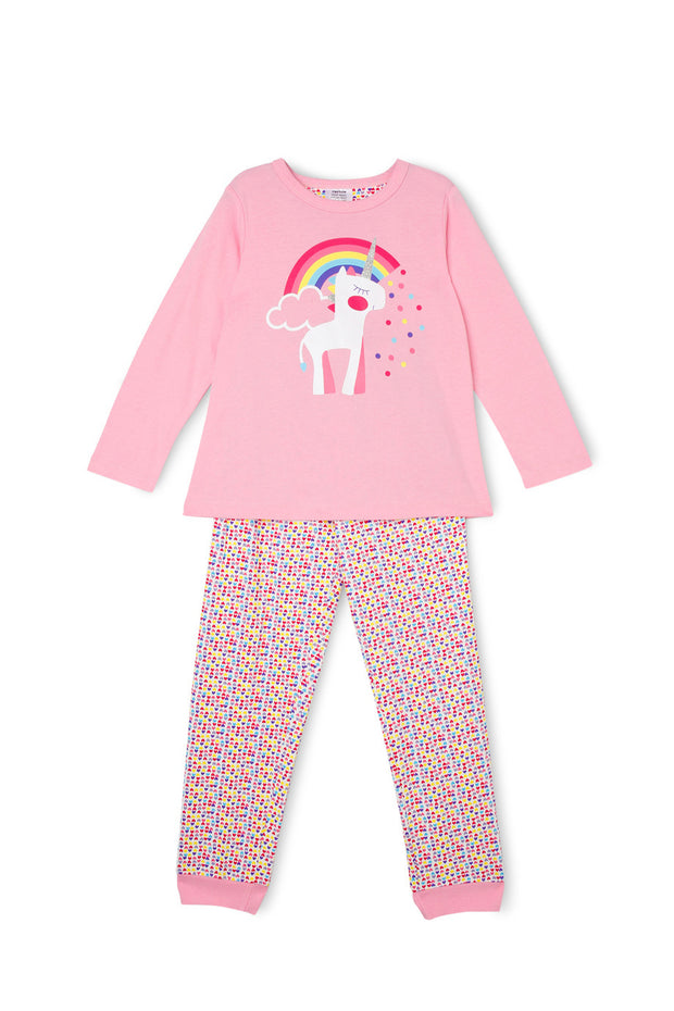 Milkshake Essentials Knit Pyjama Set Unicorn Size 3