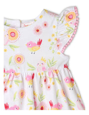 Sprout Australiana Jersey Flora & Fauna Dress