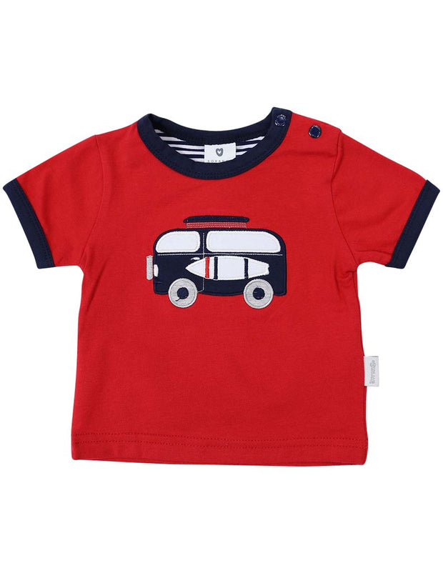 Korango Boys Camper Van Top - Red