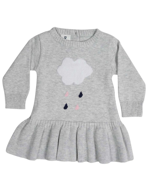 Korango Raindrops Knit Dress Grey