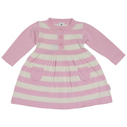 Korango Hot Air Balloon Knit Dress Pink & Beige
