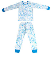 Niovi Organic Cotton Boys PJ Set - Autumn Leaves - Blue