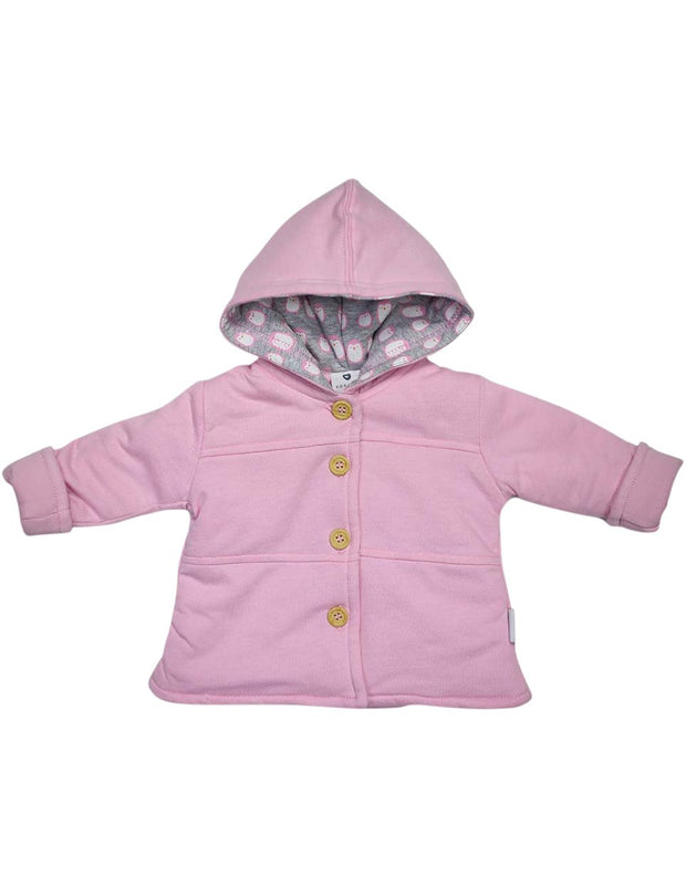 Korango Baby Penguin LIned Hooded Jacket - Pink